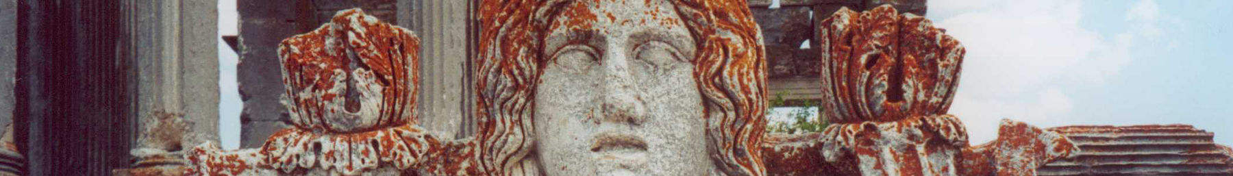 Female bust symbolizing the native goddess, Cybele, in the ruins of Aizanoi