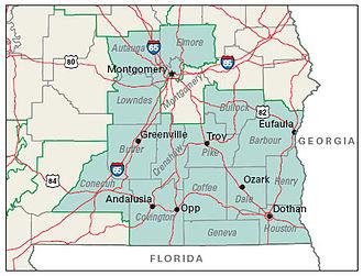2004 United States presidential election in Alabama - Image: Alabama 2nd