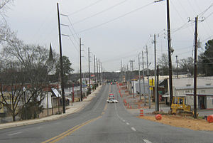Alberta City, Tuscaloosa - University Boulevard traveling east through Alberta City