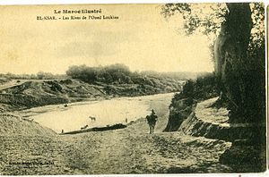 Loukkos River - Lukkus River at Ksar El Kebir in 1900