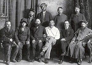 Alikhan Bukeikhanov - Bukeikhanov among Alash intelligentsia in Semipalatinsk in 1918.