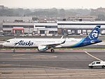 Alaska Airlines Airbus A321-253N N928VA taxiing at JFK Airport.jpg