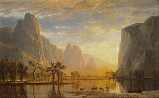 <i>Valley of the Yosemite</i> painting by Albert Bierstadt