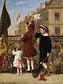Albert Roosenboom Winkende Kinder bei einem Fest in der Stadt 1880.jpg