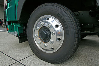 Alloy wheel - Alcoa's heavy-duty alloy wheel, for buses and trucks.