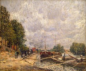 Barges In Billancourt