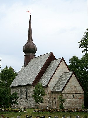 Helgeland - Alstahaug Church, a stone church built in the 12th century