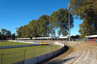 Holstein-Stadion - The German Football Association ruled that Kiel's Holsteinstadion was no longer fit for football