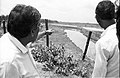 Amalendu Roy Discusses About Water Barrier - Science City Site - Dhapa - Calcutta 1993-June 625.JPG