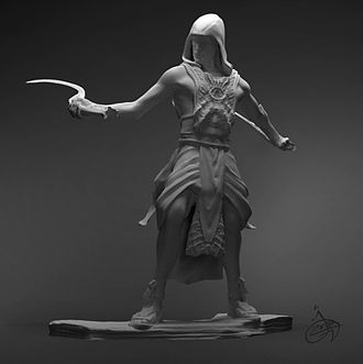 Amalickiah - An artist's interpretation of Amalackiah, Nephite dissenter and usurper of the Lamanite throne. Digital sculpture by Josh Cotton.