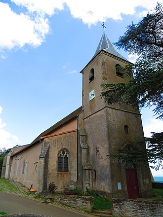 Amance, Meurthe-et-Moselle - The church in Amance