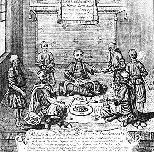 Abdallah ben Aisha - The Ambassador of Morocco Abdallah ben Aisha in Paris in 1699.