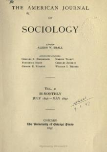 American Journal of Sociology Volume 2.djvu