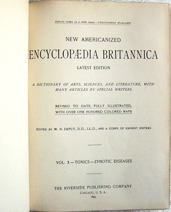 Americanized Encyclopædia Britannica title page