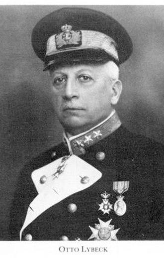 Minister of Defence (Sweden) - Image: Amiral Otto Emil Lybeck 1930 talet