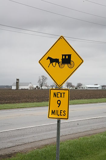 Amish country near Arthur, Illinois