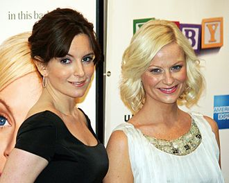 Tina Fey - Fey (left) with Amy Poehler (right) at the premiere of Baby Mama in New York, April 23, 2008