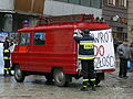 An FSC Żuk-based fire engine during a protest of emergency service workers in Poznań.jpg