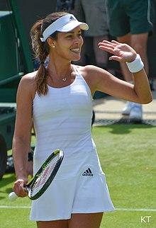 Ivanovic At The  Wimbledon Championships