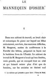 Anatole France: Le Mannequin d'osier