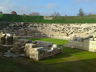 Thessaly - The first ancient theatre of Larissa. It was constructed inside the ancient city's centre during the reign of Antigonus II Gonatas towards the end of the 3rd century BC. The theatre was in use for six centuries, until the end of the 3rd century AD