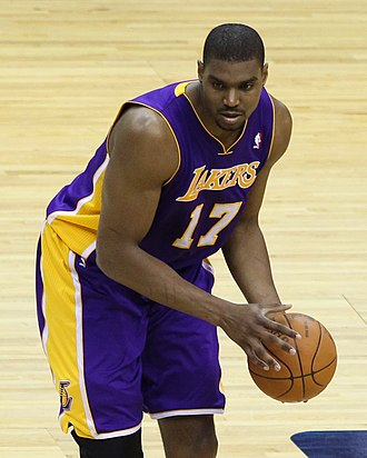 Andrew Bynum - Bynum with the Lakers in 2012