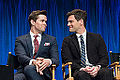 Andrew Rannells and Justin Bartha at PaleyFest 2013.jpg
