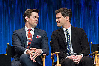 Andrew Rannells - Rannells (left) with The New Normal co-star Justin Bartha