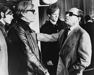Andy Warhol - Warhol (left) and Tennessee Williams (right) talking on the SS France, 1967.