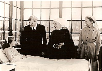 History of the National Health Service - Aneurin Bevan, Minister of Health, on the first day of the National Health Service, 5 July 1948 at Park Hospital, Davyhulme, near Manchester