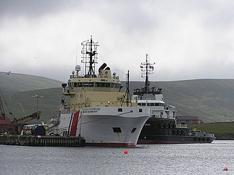 Anglian Sovereign - Image: Anglian Sovereign at Scalloway