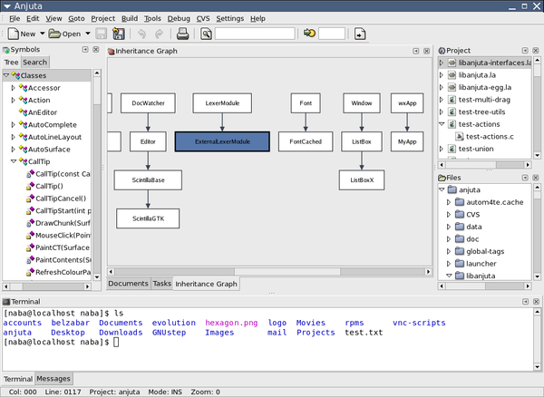 Anjuta is an IDE for C and C++ programming in the GNOME desktop environment. Anjuta-2.0.0-2.png