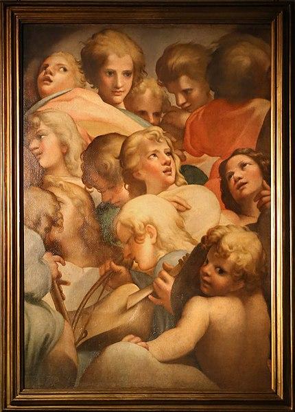 File:Annibale e agostino carracci (attr.), gruppi di angeli (da correggio), 1590 ca. 01.jpg