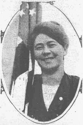 Anna Clemenc - Photograph of Anna Clemenc in a newspaper publication on February 28, 1914