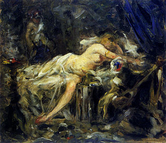 Anton Ažbe - The Harem, the last known work by Ažbe. His opus magnum Odalisque has been lost (its existence attested by a single photograph made in 1902).