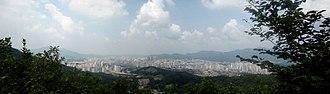 Anyang, Gyeonggi - Anyang city panorama, 2006.