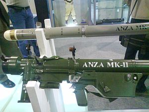Anza (missile) - Anza Mk-II on display at the IDEAS 2008 defence exhibition, Pakistan.