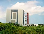 Apollo 11 Saturn V rollout from the Vehicle Assembly Building.jpg