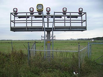 Approach lighting system - The approach lighting system of Bremen Airport