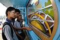 Arch - Exhibit with Schoolboys - MSE Golden Jubilee Celebration - Science City - Kolkata 2015-11-19 5620.JPG