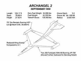 Convair Kingfish - Archangel 2 design (September 1958)