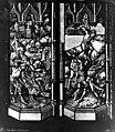 Archevêché - Vitrail, Soldats à cheval, soldats se partageant le voile - Rouen - Médiathèque de l'architecture et du patrimoine - APMH00015432.jpg