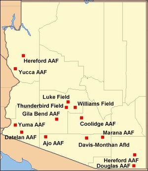 Arizona during World War II - Major airfields in Arizona during World War II.