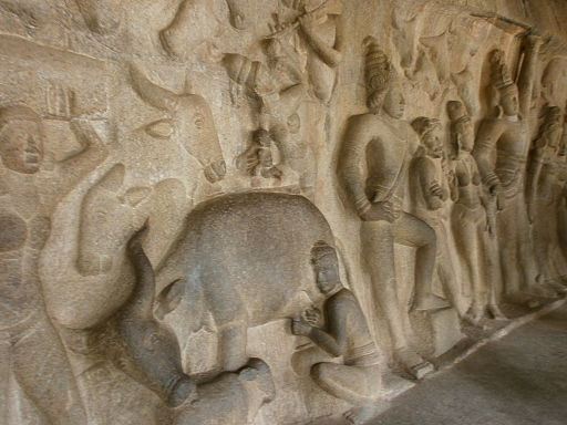 Arjunas-Penance-Descent-of-the-Ganges-Mahabalipuram-1