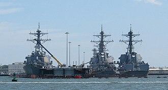 Arleigh Burke-class destroyer - Image: Arleigh Burke Class Ships