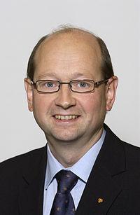 Arne Lyngstad, ordforande Norges delegation (Bilden ar tagen vid Nordiska radets session i Oslo, 2003).jpg