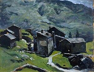 Contardo Barbieri - Baite di Caspoggio, 1929 (Art collections of Fondazione Cariplo)