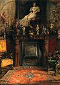 Arthur Ferraris - Interior with View of a Fireplace and a Painting.jpg