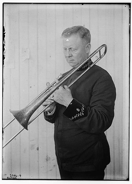File:Arthur Willard Pryor with his trombone in 1920.jpg