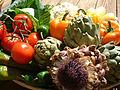 Artichoke, artichoke flower, peppers, cabage, DSCF1617.jpg
